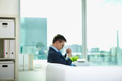 Sad businessman Royalty Free Stock Image