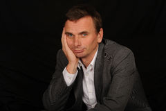 Sad businessman Stock Image