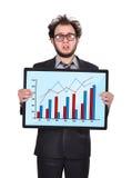 Sad businessman and chart Stock Image