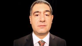 Sad businessman crying stock video