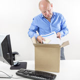 Sad businessman fired Stock Photo