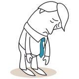 Sad businessman hanging his head Stock Image