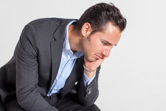Sad businessman Stock Images