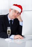 Sad Businessman Sitting In Office Royalty Free Stock Photography