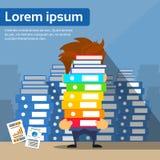 Sad Businessman Study Problem Hold Pile Stack Stock Photo
