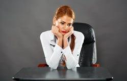 Sad businesswoman Stock Images