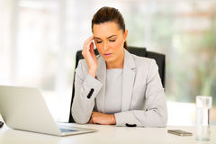 Sad businesswoman Stock Image