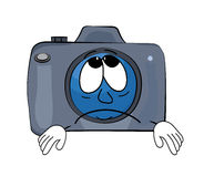Sad Camera cartoon Royalty Free Stock Image