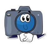 Sad Camera cartoon Stock Images