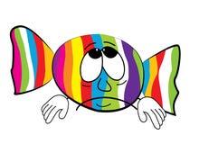 Sad Candy cartoon Stock Image