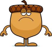 Sad Cartoon Acorn Royalty Free Stock Image
