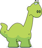 Sad Cartoon Apatosaurus Royalty Free Stock Photo