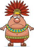 Sad Cartoon Aztec King Royalty Free Stock Photo