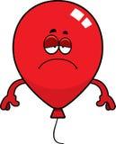 Sad Cartoon Balloon. A cartoon illustration of a balloon looking sad Royalty Free Stock Photo