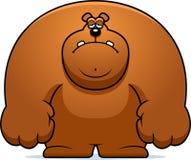 Sad Cartoon Bear. A cartoon illustration of a bear looking sad Royalty Free Stock Image