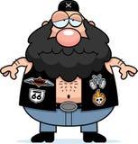 Sad Cartoon Biker Royalty Free Stock Image