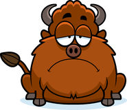 Sad Cartoon Bison Stock Photos
