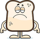 Sad Cartoon Bread Stock Photo