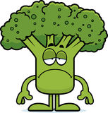Sad Cartoon Broccoli Royalty Free Stock Photos