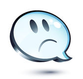 Sad cartoon bubble. Isolated on white Stock Photo