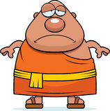Sad Cartoon Buddhist Monk Royalty Free Stock Photos