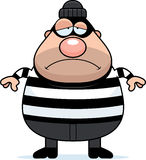 Sad Cartoon Burglar. A cartoon illustration of a burglar looking sad Royalty Free Stock Photography