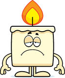 Sad Cartoon Candle Royalty Free Stock Photography