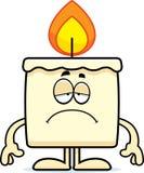 Sad Cartoon Candle. A cartoon illustration of a candle looking sad Royalty Free Stock Photography