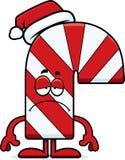 Sad Cartoon Candy Cane Stock Photos