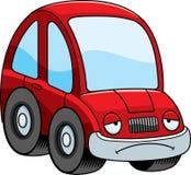 Sad Cartoon Car. A cartoon illustration of a car looking sad Stock Photography