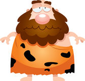 Sad Cartoon Caveman Stock Photo