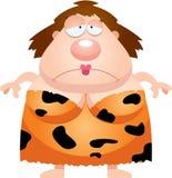 Sad Cartoon Cavewoman Stock Images
