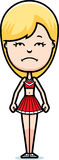 Sad Cartoon Cheerleader Royalty Free Stock Photo
