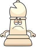 Sad Cartoon Chess Bishop Stock Photos