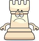 Sad Cartoon Chess Rook Royalty Free Stock Photo