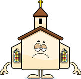 Sad Cartoon Church Royalty Free Stock Images