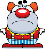 Sad Cartoon Clown Royalty Free Stock Images