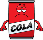 Sad Cartoon Cola Can Royalty Free Stock Photography
