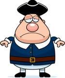Sad Cartoon Colonial Man Stock Images