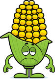 Sad Cartoon Corn Royalty Free Stock Photo