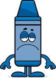 Sad Cartoon Crayon Royalty Free Stock Photos