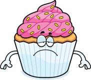 Sad Cartoon Cupcake Stock Photo