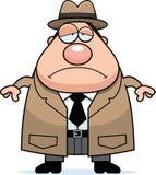 Sad Cartoon Detective Stock Photography