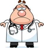 Sad Cartoon Doctor Royalty Free Stock Image