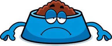 Sad Cartoon Dog Bowl Royalty Free Stock Image