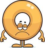 Sad Cartoon Doughnut Stock Photo