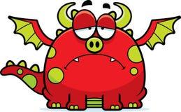 Sad Cartoon Dragon Stock Photo