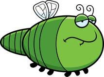 Sad Cartoon Dragonfly Royalty Free Stock Image