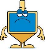 Sad Cartoon Dreidel Stock Photography