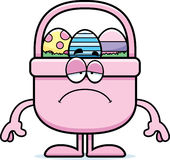 Sad Cartoon Easter Basket Stock Photos